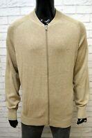 Cardigan Uomo CAMEL Taglia XXL Pullover Cotone Sweater Man Maglione Zip Felpa