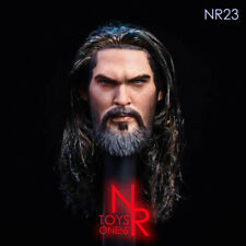 "1/6 NRTOYS Painted Hair Head Carving Model Fit 12"" Male Strong Muscle Body"
