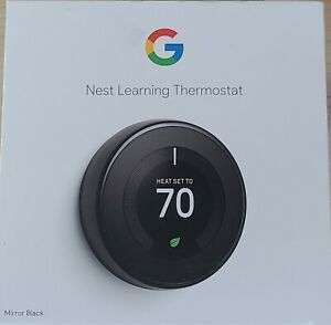 Nest Learning Thermostat - 3rd Gen - Mirror Black (T3018US)