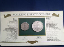1937-1987 Walking Liberty Half Dollar American Silver Eagle Collection  E5375
