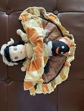 Antique~Early Americana-Black/White Topsy Turvy Rag Doll-Double-ended-14�Ta ll