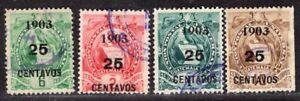 GUATEMALA 1903 STAMP Sc. # 124/7 USED