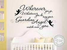 Guardian Angel Nursery Wall Sticker Quote, with Cherubs, Childrens Bedroom Decor