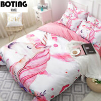 colorized Unicorn Bedding set Duvet/Quilt Cover Pillowcase Domitory/Bedroom