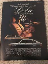Vintage 1976 VOLKSWAGEN VW DASHER Print Ad **1ST EVER VW LUXURY VEHICLE** RARE
