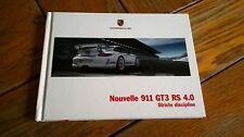Brochure PORSCHE 911 GT3 RS 4.0 04/2011 : catalogue cartonné 64 p. en français