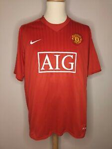 Rare Original 2007-2009 Manchester United Home Shirt #10 Rooney XL Men's NIKE