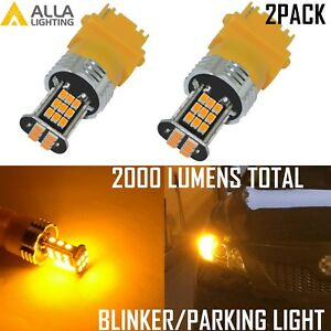Alla Lighting 3157 LED Turn Signal Blinker,Parking Light Bulb Lamp Bright Yellow