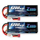 2pcs Zeee 5200mAh 80C 7.4V LiPo Battery 2S Deans Hardcase for RC Car Truck Heli