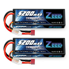 2pcs 5200mAh 80C 7.4V LiPo Battery 2S Deans Hardcase for Rc Car Truck Helicopter