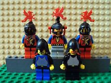 Lego Minifig ~ Mixed Lot Of 5 Dragon Master Knights Vintage Castle Warriors #f5y
