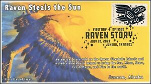 21-185, 2021, Raven Story, First Day Cover, Pictorial Postmark, Juneau AK,