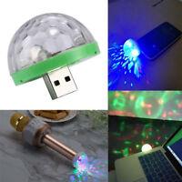 4W USB Mini LED Disco Stage Light Party Club DJ KTV Magic Phone Lamp Ball D8C
