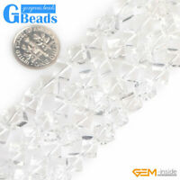 Natural White Crystal Clear Quartz Gemstone Freefrom Beads For Jewelry Making GB