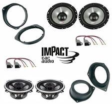 IMPACT Set 4 Haut Parleur Pour Fiat Punto Avec Adaptateurs Et Supports Enceintes