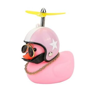Car Duck With Helmet Broken Wind Small Yellow Duck Road Bike Motorcycle Helmet