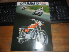 Prospekt Sales Brochure Yamaha 125ccm AS3 Street Europa Motorrad Moped Bike