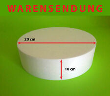 Styropor-Scheibe Torte Ø 20 Höhe 10 cm Rohling Dummy Hochzeit Cake Grundlage