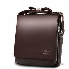 Brown Color Size XL Kangaroo  Mens Leather Crossbody Shoulder Bag Messenger Bag