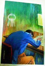 GARCIA SEIJAS ORIGINAL ART COVER SIGNED RASTROS CRIME PULP ARGENTINA 1960s