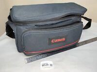 Vintage Canon Camera / Camcorder Bag - Needs Repair TORN - Blue M139