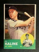 1963 Topps baseball # 25 Detroit Tigers Al Kaline