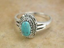 EXOTIC STERLING SILVER REAL TURQUOISE STONE RING size 8  style# r1145