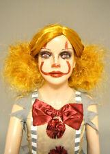 Kids New It Clown Style Girls Auburn Backcombed Wig