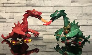 PLAYMOBIL Lot 2 Dragon Vert et Rouge. Ancien.