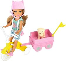 Barbie Chelsea Doll Tricycle Wagon Puppy Figure Accessories Girls Play Toy Set
