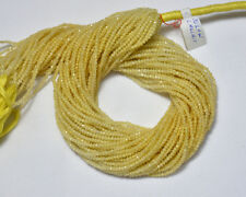 Natural Yellow Calcite 2.10MM Gemstone Faceted Rondelle Beads 12.5 Inch 5 Strand