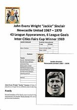 JACKIE SINCLAIR NEWCASTLE UNITED 1967-1970 RARE ORIGINAL SIGNED MAGAZINE CUTTING