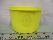 TUPPERWARE Vintage 1297-10 Yellow Canister Servalier Bowl Container good shape