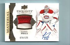 CAREY PRICE 2015/16 EXQUISITE MATERIAL SIGNATURES 2 COLOR PATCH AUTOGRAPH /135