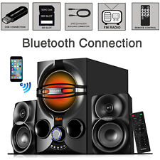 Boytone 2.1 Multimedia Bluetooth Speaker System, SD Slot, USB Port, FM, DJ Light