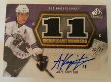2010-11 SP Game Used Significant Numbers Anze Kopitar Autograph/Jersey  1/11