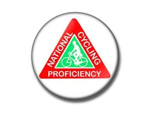 National Cycling Proficiency 25, 38, 59mm badge, bottle opener, magnet retro