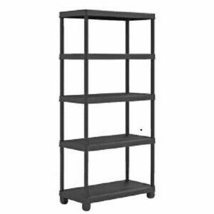 5 Tier Plastic Shelf Shelving Shelves Rack Racking Home Storage Unit 1.7M