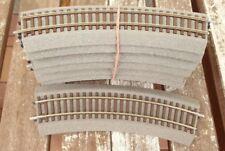 Roco 42522 10 x - 10 Stück  Roco Line gebogene R 2 mit Bettung gut erhalten