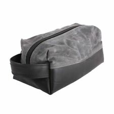 Alchemy Goods water-resistant Elliot Waxed canvas Large Travel Kit / color-Grey