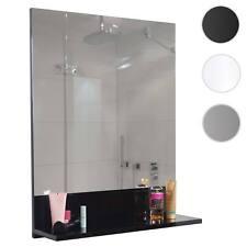 Wandspiegel mit Ablage HWC-B19, Spiegel Badspiegel Badezimmer, hochglanz