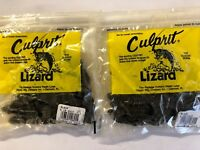 1,250 count black Culprit Lizard, crawdad 6 in, soft plastic bait wholesale bulk