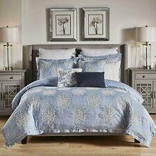 Croscill Zoelle 5P King comforter Shams Set Blue