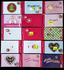 D) Lot de 14 card and Button-set (Badge) décoratif - Neuf -
