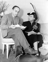 OLD NBC RADIO PHOTO Playwright Arch Oboler & actress Joan Crawford 2