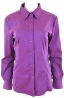 NEW YORK & COMPANY Womens Shirt Size 18 XL Purple Cotton  GY13