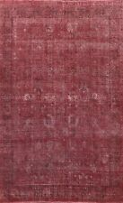 New listing antique Overdyed Traditional Evenly Low Pile Distressed Handmade Area Rug 9'x12'