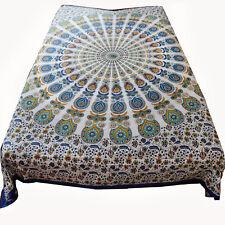 Tagesdecke Bettüberwurf Baumwolle  Pfauenrad   Dekotuch-Tischtuch Decke 210x240