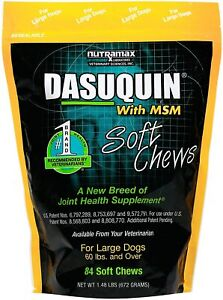Nutramax Dasuquin MSM Soft Chews for Large Dogs 60 lbs. + 84CT