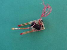 TRAIN.HO.WAGON TRAVAUX.PLATINE FEUX FIN DE CONVOI 3mm+ 1 LEDS CLIGNOTANTE ORANGE